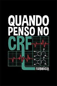 Camisa Universitária Farmácia - Eletrofarmacograma - Preta - Basic