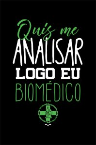 Camisa Universitária Biomedicina - Bioanálise - Preta - Basic