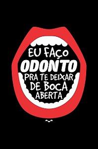 Camisa Universitária Odontologia - Boquiaberto - Preta - Basic