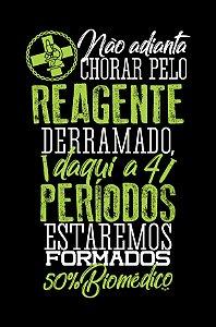 Camisa Universitária Biomedicina - Sem chororô - Preta - Basic