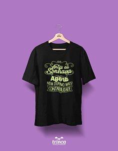 Camisa Universitária Ciências Contábeis - Pesadelo - Basic