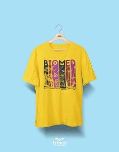 Camisa Universitária Biomedicina - E aí, como seria? - Amarela - Premium