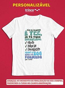 Camisa Universitária - Personalizável - Duzentos - Branca - Basic
