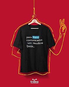 Camiseta Universitária - Comunicação - Meio Comunic - Basic