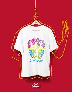 Camiseta Universitária - Psicologia - Psicolorido - Basic
