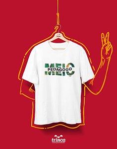 Camiseta Universitária - Pedagogia - Metade já foi - Basic