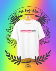 Camiseta Personalizada - Lésbica Sem Medo - Me Orgulho - Basic