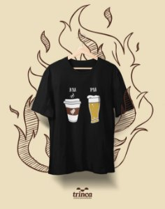 Camiseta Personalizada - Café - AM PM - Basic