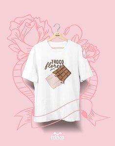 Camiseta Personalizada - Dia do Amor - Chocólatra - Basic