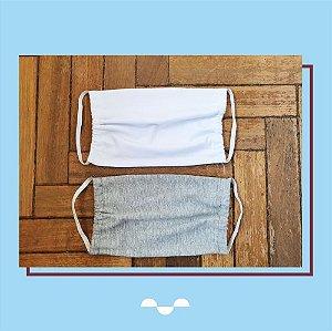 Máscara de Proteção Individual - Lisa - (100% algodão - Reutilizável - Lavável)