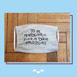 Máscara de Proteção Individual - Estampa 02  - (100% algodão - Reutilizável - Lavável)
