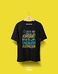 Camisa Universitária Engenharia Elétrica - Alta Tensão - Basic