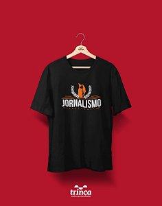 Camisa Universitária Jornalismo - O 4º poder - Basic