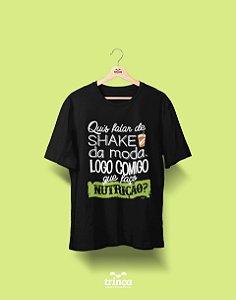 Camiseta Universitária - Nutrição - Shake, Shake, Shake - Basic
