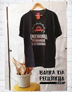 Camiseta Universitária - Engenharia Ferroviária e Metroviária - Trilhos - Basic
