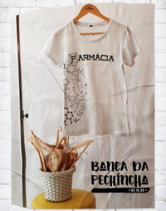 Camiseta Universitária - Farmácia - Moléculas - Basic