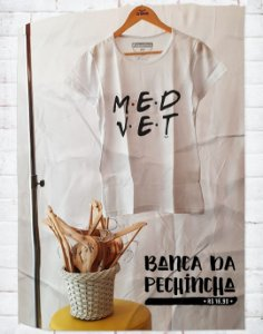 Camiseta Universitária - Medicina Veterinária - Friends - Basic