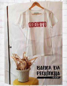 Camiseta Universitária - Odontologia - Borrachinha - Basic
