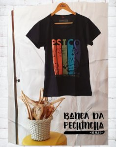 Camiseta Universitária - Psicologia - Cute but psycho - Basic