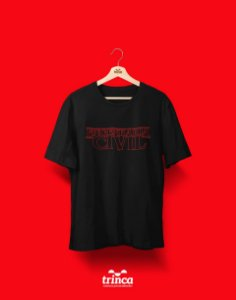 Camiseta Universitária - Engenharia Civil - Stranger Things - Basic
