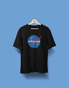 Camiseta Universitária - Telecomunicações - Nasa - Basic