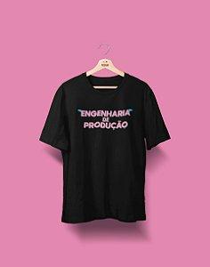 Camiseta Universitária - Engenharia de Produção - Voe Alto - Basic