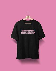 Camiseta Universitária - Engenharia Metalúrgica - Voe Alto - Basic