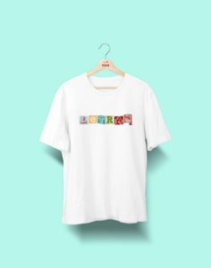 Camiseta Universitária - Letras - Colagem - Basic