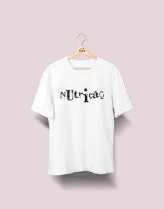 Camiseta Universitária - Nutrição - Nanquim - Basic