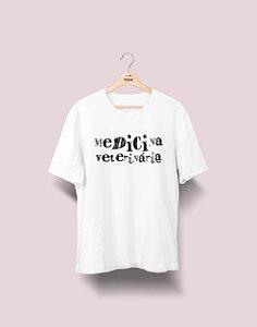 Camiseta Universitária - Medicina Veterinária - Nanquim - Basic