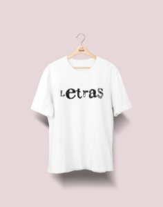 Camiseta Universitária - Letras - Nanquim - Basic