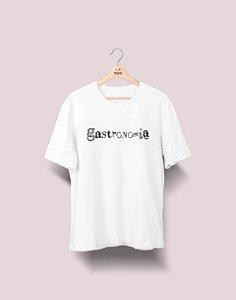 Camiseta Universitária - Gastronomia - Nanquim - Basic