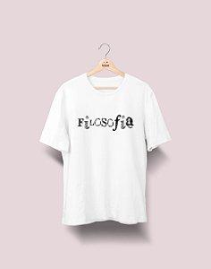 Camiseta Universitária - Filosofia - Nanquim - Basic