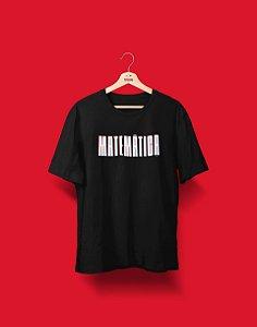Camiseta Universitária - Coleção 3D - Matemática - Basic