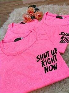 T-Shirt estampa bolso - Rosa Neon