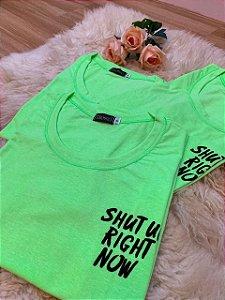 T-Shirt estampa bolso - Verde Neon