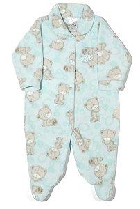 Macacão soft masculino azul bebê estampa ursinho 765f80aab9c