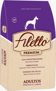 RAÇÃO PREMIUM - FILETTO ADULTO FRANGO E CARNE