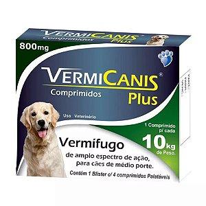 VERMICANIS 800 MG (10 KG) COM 4 COMPRIMIDOS