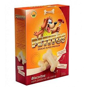 PETITOS BISCOITO C/PEDAÇOS DE CARNE 350GR
