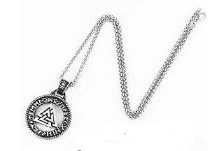 Colar Símbolo Viking Valknut três triangulos entrelaçados