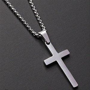 Corrente Cordão Jr Men Crucifixo Aço