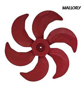 Hélice Ventilador Mallory Turbo Silence Red 30Cm 6 Pas Vermelha