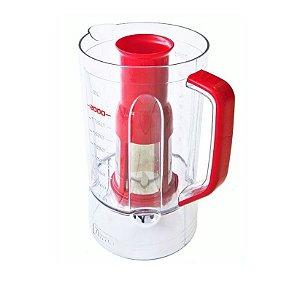 Copo Liquidificador Mondial Turbo Inox L-1200 W Vermelho