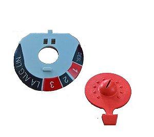 Conjunto Botão Regulador Ferro Seco Black e Decker VFA ECO