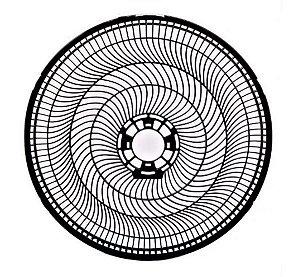 Grade Traseira Ventilador Cadence Eros Turbo Coluna P Vtr869