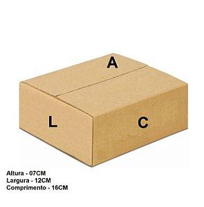 Caixa Papelão Correios Sedex Pac Tam. 16x12x7 - 25 Unidades