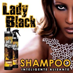 SHAMPOO QUE ALISA - Lady Black 1litro + Finish Hidrat 300ml