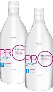 PROMOÇÃO-Kit Escova Progressiva BBCream 12 Benefícios em 1 produto - 2x1Litro