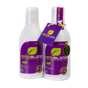 NATUBLOND - Escova Progressiva 100% Orgânica para Loiras, Platinadas, Luzes - 300ml